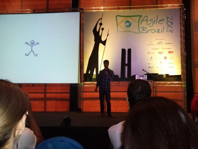 Alexandre Gomes iniciando sua empolgante palestra.