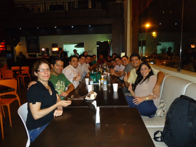 Galera da Comunidade no #HoraExtra com Vinícius Teles e sua esposa Patrícia Figueira.