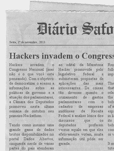 """Capa de jornal falsa com a manchete """"Hackers invadem o Congresso"""""""
