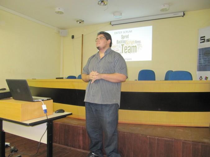 Breno Campos iniciando os trabalhos