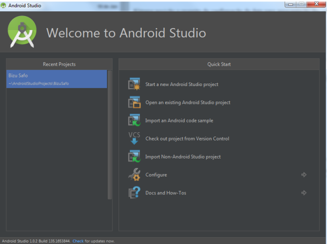 welcome_android_studio