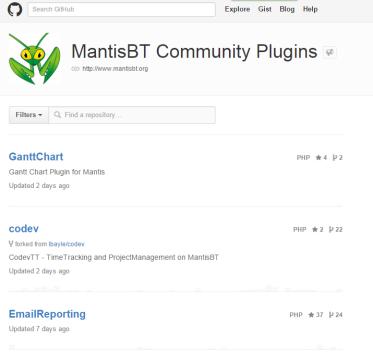 pluginsMantis