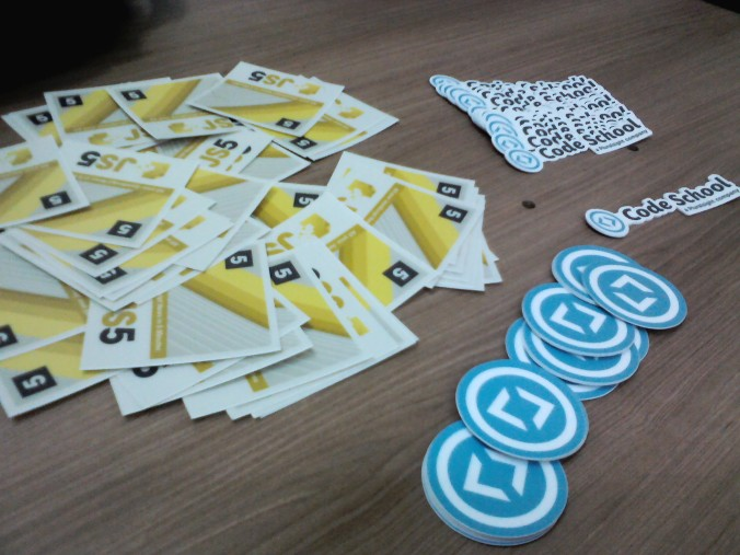 Stickers e adesivos do #JavaScriptCamp