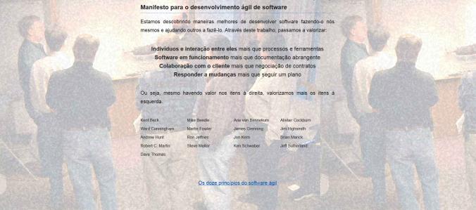 Manifesto para o desenvolvimento ágil de software